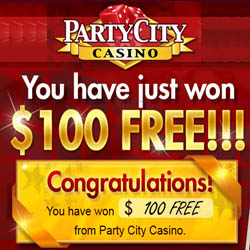 Party City Casino $100 Free Bonus Code August 2014