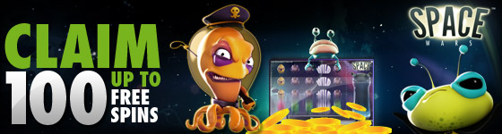 100 Free Spins on Space Wars