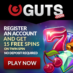 "Guts Casino: 50 Free Spins on ""Gonzo's Quest"" - September 2019"
