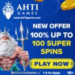 AHTI Games Casino - 100 Super Spins