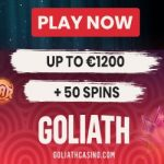 Goliath Casino - 50 Spins & €200 Bonus