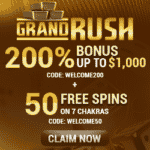 "Grand Rush: 300 Free Spins on ""Stones and Bones"" - July 2020"