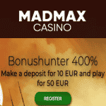 MadMax Casino - 400% Welcome Bonus