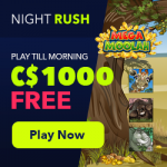 """NightRush: 50 Free Spins on """"Volcano Riches"""" - September 2019"""