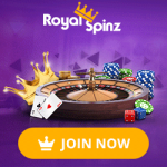 RoyalSpinz Casino - €800 Welcome Bonus