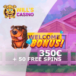 Will's Casino - 50 Spins & $350 Bonus